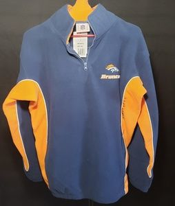 Bronco's Fleece pullover Size M